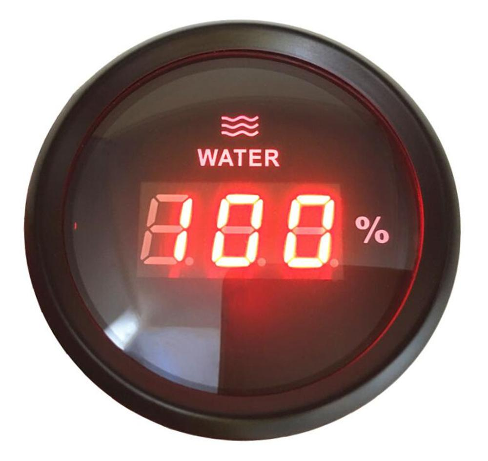 1pc 52mm Digital Waterproof Water Level Gauges 9 32v 0 190ohm Water Level Meters with Backlight