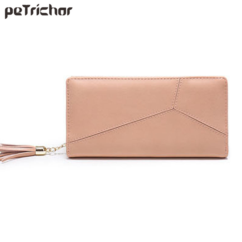 Women PU Leather Designer Long Wallet Card Holder Fashion Clutch Coin Purse Female Zipper Casual Money Bags for Girls qmn women genuine leather platform flats women lace cut glossy leather square toe brogue shoes woman lace up leisure shoes 34 39
