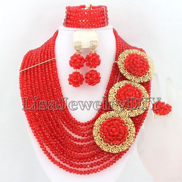 Amazing Nigerian Wedding Beads Jewelry Sets African Beads Jewelry Necklace Sets HD4509Amazing Nigerian Wedding Beads Jewelry Sets African Beads Jewelry Necklace Sets HD4509