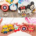 2PCS\LOT Marvel hero key rings despicable Me car keychain phone bag key chain pendant PVC totoro owl figures captain america toy