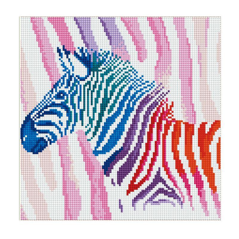 30*30cm Full Drill Colorful Horse 5D Diamond Painting Cross Stitch DIY Needlework Craft Kit Diamond Embroidery Home Decoration