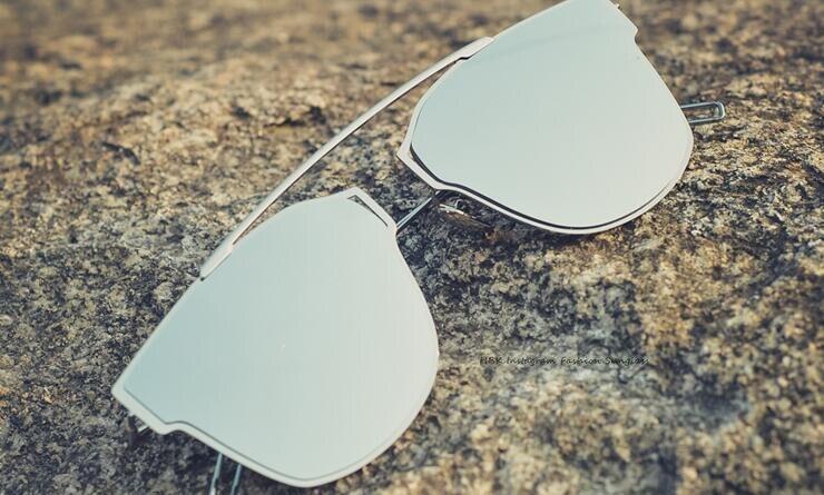 f73373581cb Aliexpress.com   Buy HBK New Luxury Brand Designer CD Flat Top Mirror  Sunglasses Women Pink Vintage Marque So Real Sunglasses Men Gafas de sol  mujer from ...