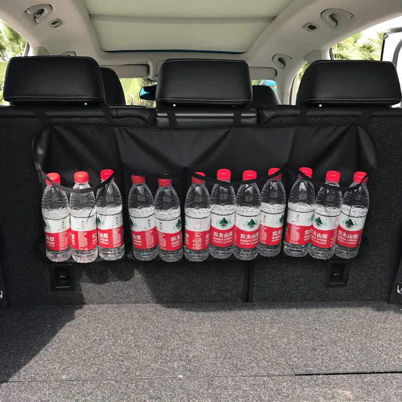 Organizator bagażnika samochodowego regulowane przechowywanie z tyłu siedzenia torba netto o dużej pojemności wielofunkcyjny fotel samochodowy Oxford powrót organizatorzy uniwersalny