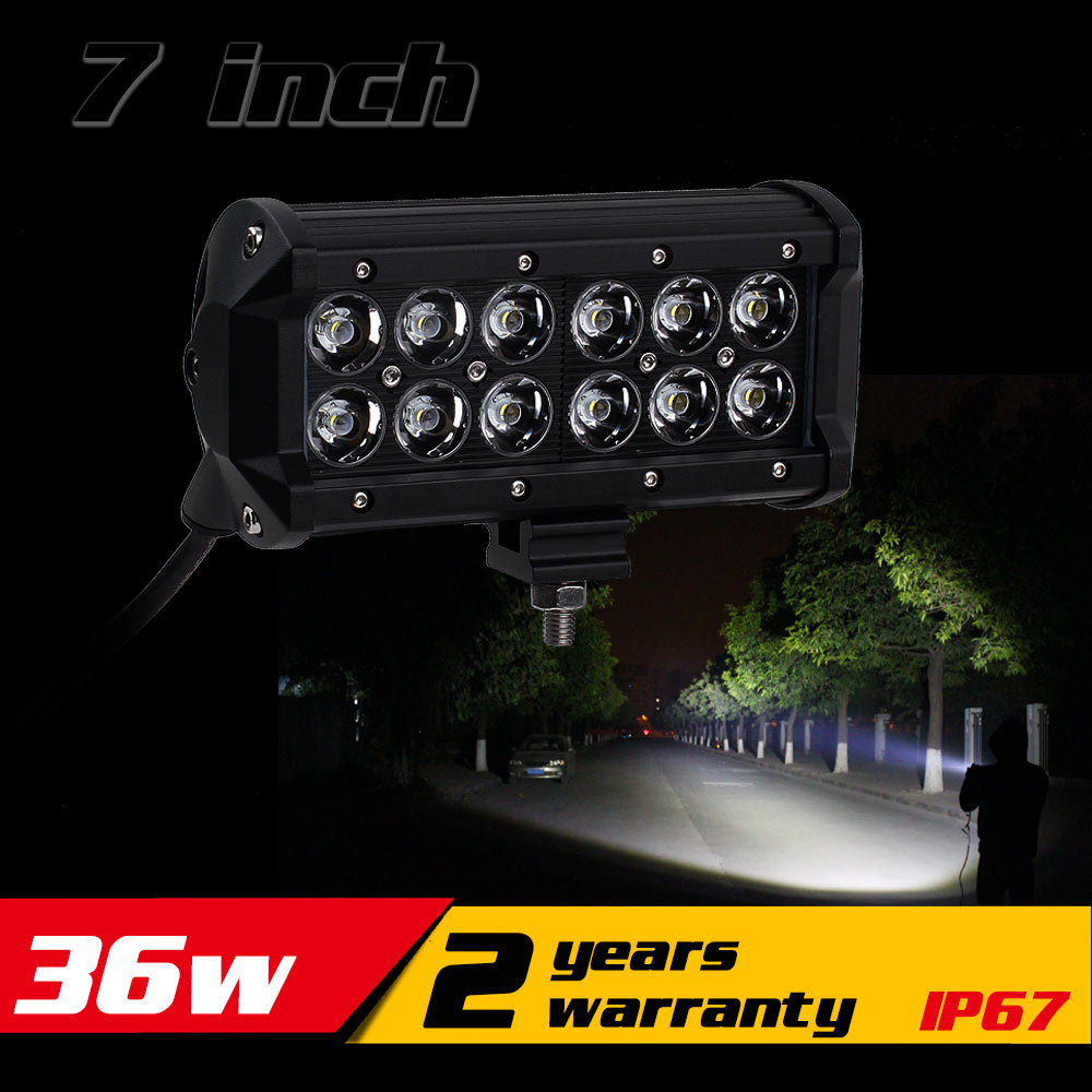 7inch 36w led work light bar tractor motorcycle atv led offroad light bar 4x4 led bar offroad. Black Bedroom Furniture Sets. Home Design Ideas