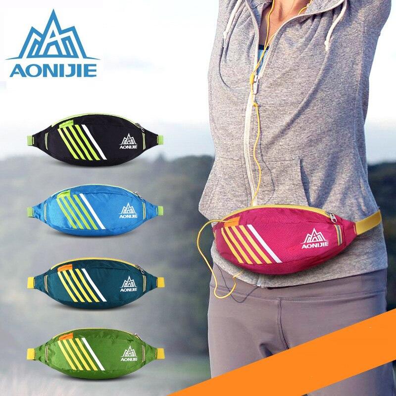 AONIJIE Breathable Adjustable Size Women Outdoor Running Waist <font><b>Bag</b></font> <font><b>Cycling</b></font> Hiking Bicycle Sports <font><b>Phone</b></font> Money Keys Body Walletbag