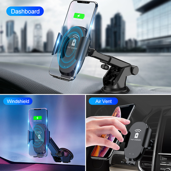 ROCK Infrared Sensor Automatic Qi Fast Wireless Car Phone Charger For iphone Samsung Car Phone Holder For Xiaomi Huawei 10W 1