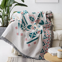 Bohemian Decorative Sofa Blanket For Living Room Slipcover Knitted Thread Throw Plaid Piano Dustproof Cover Tablecloth Tapestry