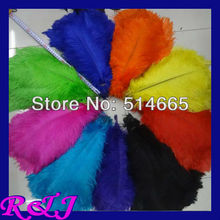 EMS Free shipping Cheap ostrich feather 200pcs 14-16 inches 35-40cm mix 4 color Ostrich drab feather