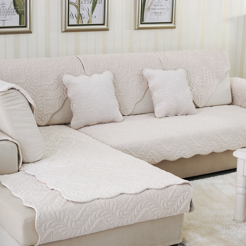 Solid Flush Recliner Couch Covers For Reclining Couch Cushion Patterned  Slipcovers Sectional Slip Cover For Sofa White Gray In Sofa Cover From Home  U0026 Garden ...
