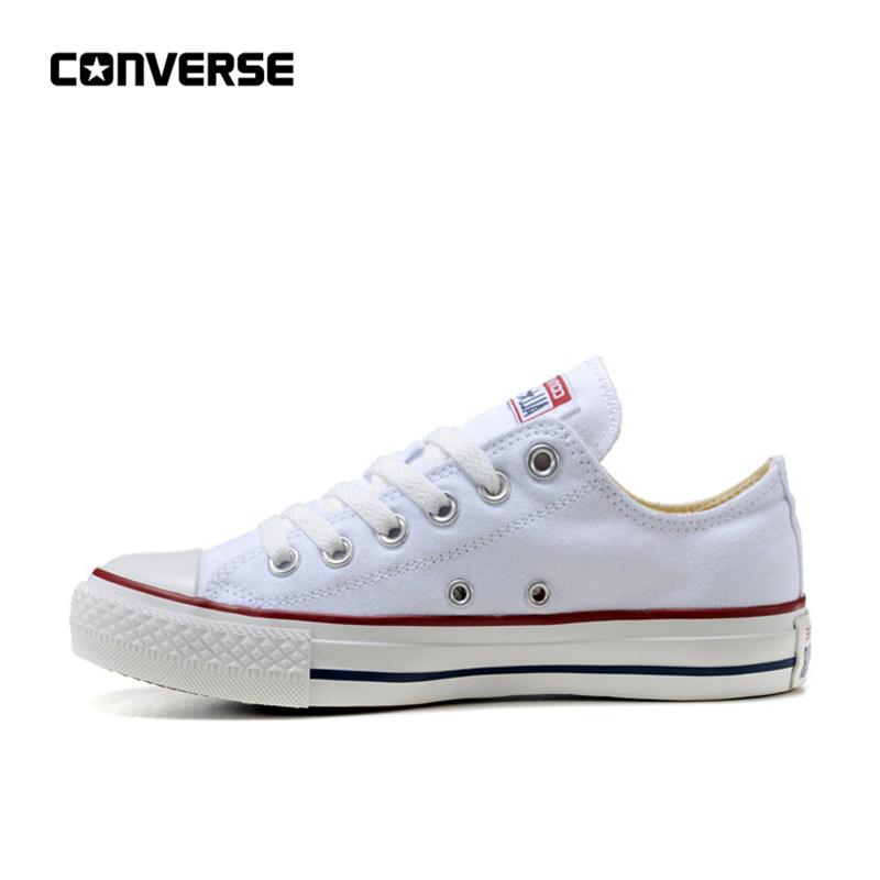 Converse Skateboarding-Shoes Canvas Anti-Slippery Classic White Unisex All-Star Sneakser