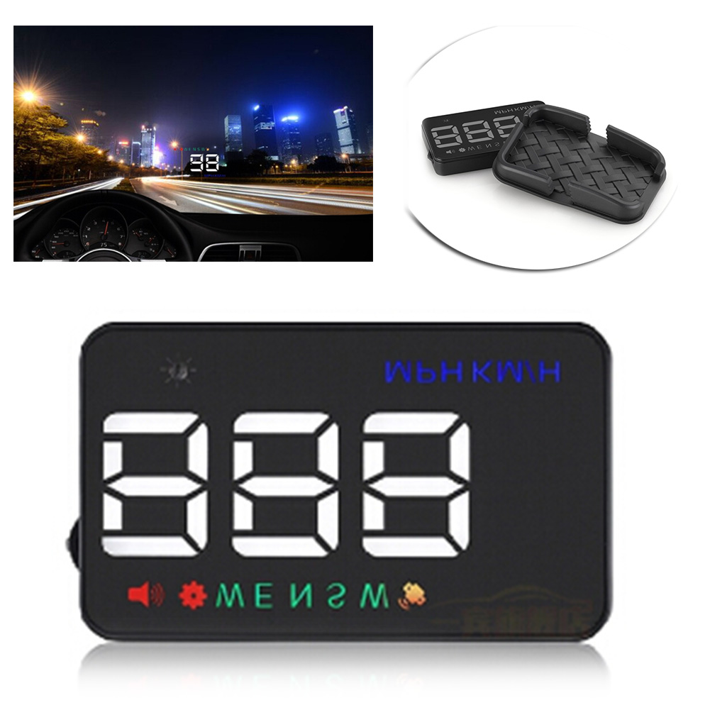 """Universal Car Over Speed Warning Speedometer HUD GPS Head Up Display 3.5"""" Automobile Auto Car Spare Parts Accessories