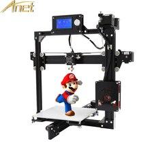 Оригинальный Анет A2 металлический Рамки RepRap Prusa i3 DIY 3D принтер 12864LCD 8 ГБ карты памяти + бесплатная 0.5 кг pla/ABS нити impresora 3D