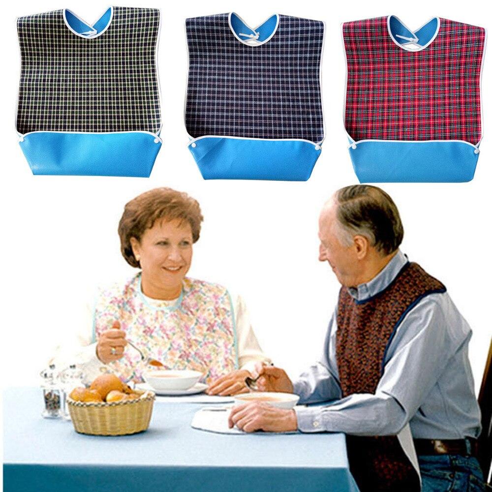 Adult Bibs Waterproof Saliva Bib With Pocket Unisex Drinking Anti-leak Adult Mealtime Bib Clothes Clothing Protector Aprons