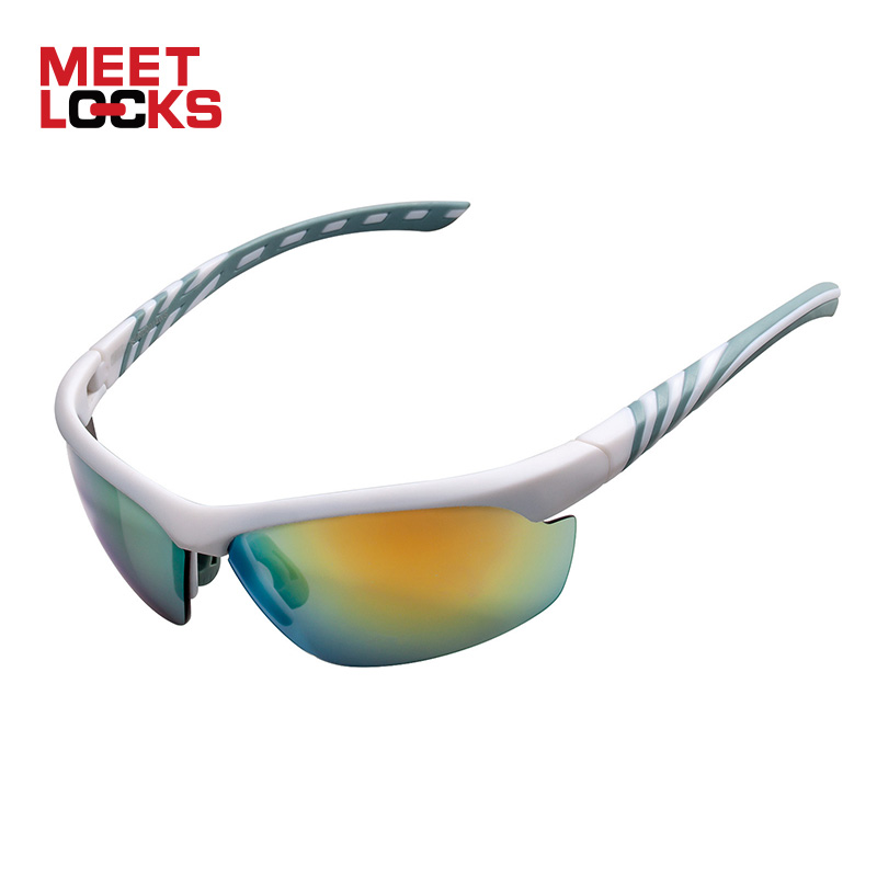 b8148e86100 MEETLOCKS Cycling Glasses Sports Sunglasses for Men Women With UV400  Protection for Riding Fishing Driving Golf Running -in Cycling Eyewear from  Sports ...