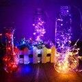 2 М Длиной 20 СВЕТОДИОДНЫЕ Лампы Батарея Клетки Кнопки Питания Строка Свадьба Микро Провода Украшения Сказочных Огней