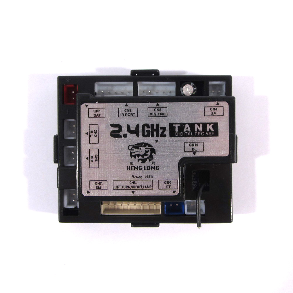 Heng Long Newest 2.4G receiver 5.3 version multi-function unit with antenna for 1:16 Heng Long RC tanks heng long