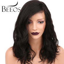 BEEOS Short Full Lace Human Hair Wigs Pre Plucked Body Wave Brazilian Non Remy Hair Lace Wigs For Black Women Bleached Knots