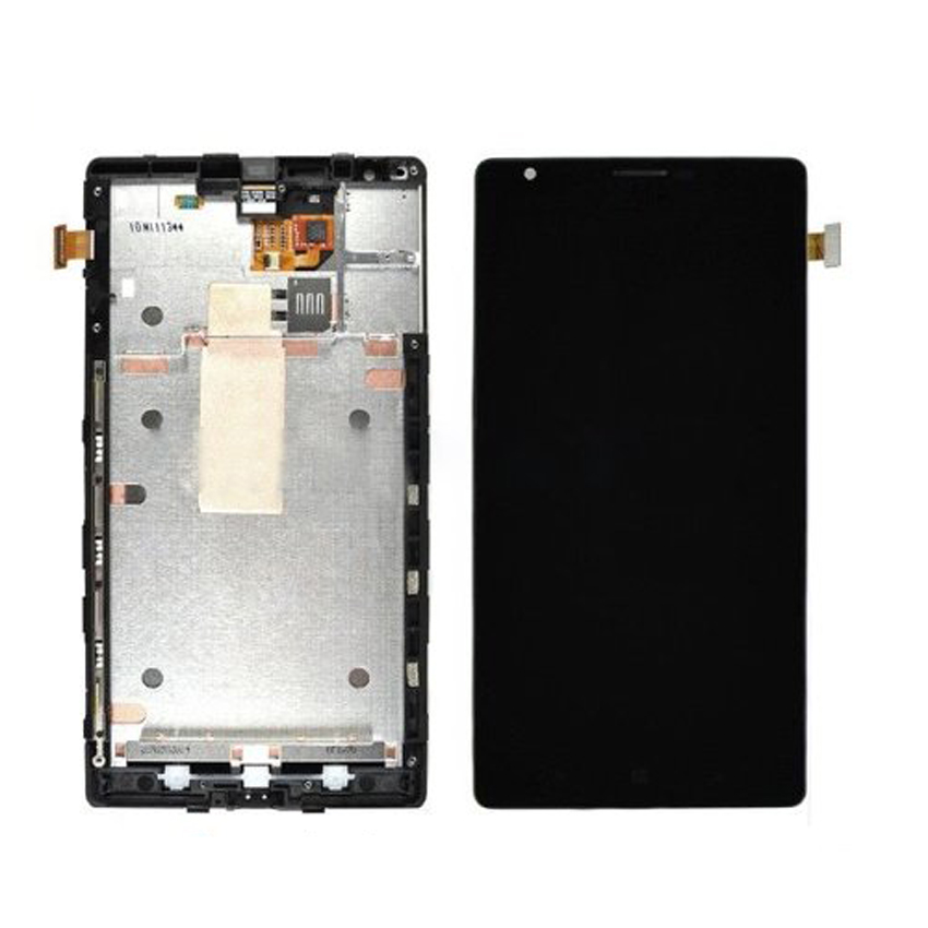 Black LCD Display Touch Screen Digitizer Assembly with Bezel Frame For Nokia Lumia 1520 Replacements Part Free Shipping black lcd display touch screen digitizer assembly with bezel frame for nokia lumia 1520 replacements part free shipping