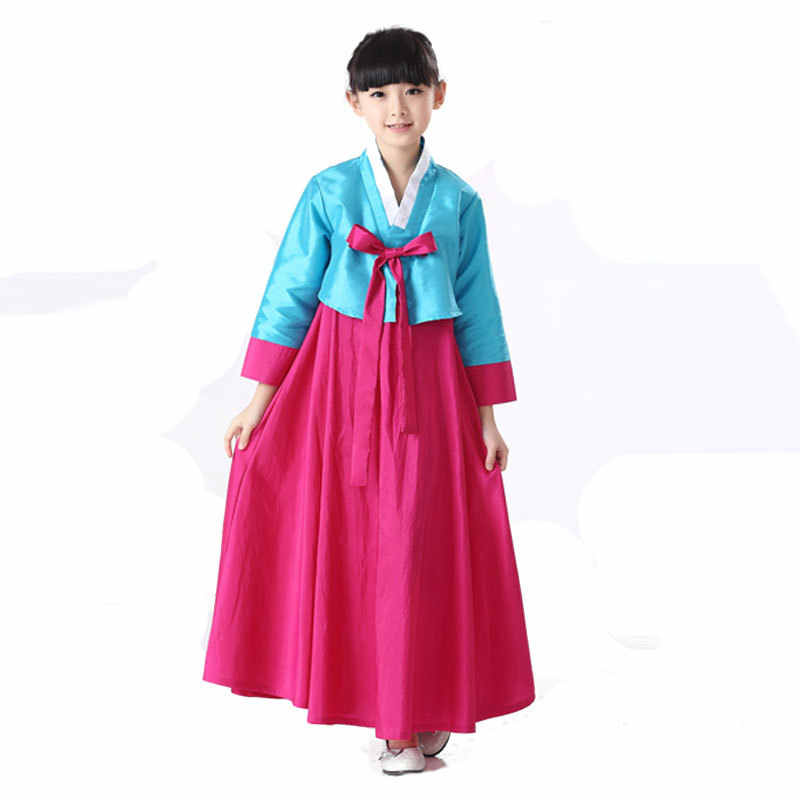 d9ca3976f ... Full Sleeve 2PCS Cosplay Costume Traditional Korean Clothing National  Baby Girls Dance Performance Clothes Kids Hanbok ...
