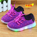 New Fashion 2017 Spring Baby Girls LED Light Shoes Toddler Anti-Slip Sports Boots Kids Sneakers Children's Flat flash lamp shoes