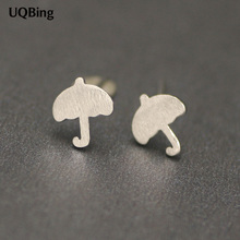 Free Shipping Beautiful Jewelry Fashion Women Stud Earrings 925 Sterling Silver Umbrella Stud Earrings Pendientes Brincos