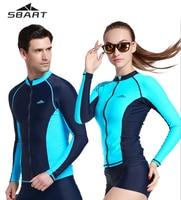 Sbart新しいスタイルupf50 +ロングスリーブジャケット用男性レディースビーチtシャツ水