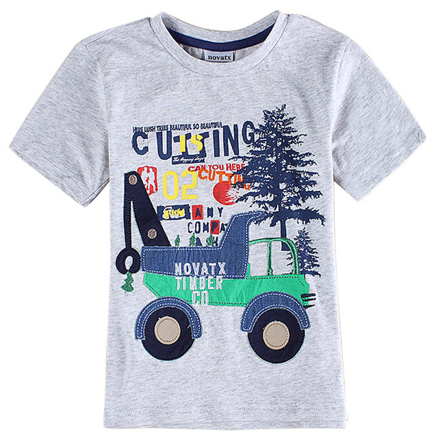 Buy Gray Boys Clothes 3d Printed Kids T