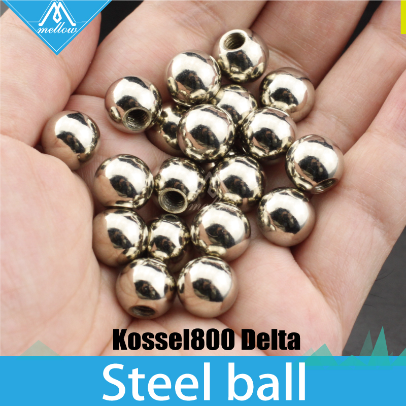 20pcs 10mm Stainless Steel Ball with M4 Threaded hole for kossel800 delta customization service 3d printer Accessories