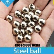 20 pcs 10mm Paslanmaz Çelik Topu ile M4 Dişli delik için kossel800 delta, özelleştirme hizmet 3d yazıcı Aksesuarları