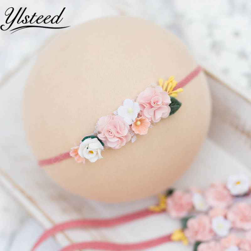 Newborn Photography Props Newborn Flower Headband Baby Girl Photo Props Girls Hair Accessories for Photo Shooting Baby Hairband цена