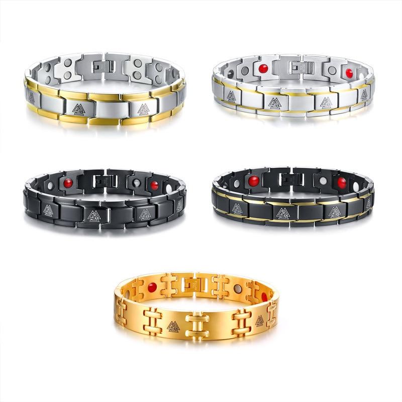 Bracelet magnétique Viking noir 3