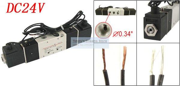 Freies Verschiffen Hohe Qualität 1/8 dc 24 V Doppel Postion 5 Way Air Magnetventil 4v120-06 Dual Spulen GüNstige VerkäUfe Heimwerker