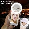 Inteligente led 7 selfie tampa anel para iphone 5s 6 6 s plus samsung s7 s5 s6 lg mobile iphone flash anel de reforço da beleza de luz