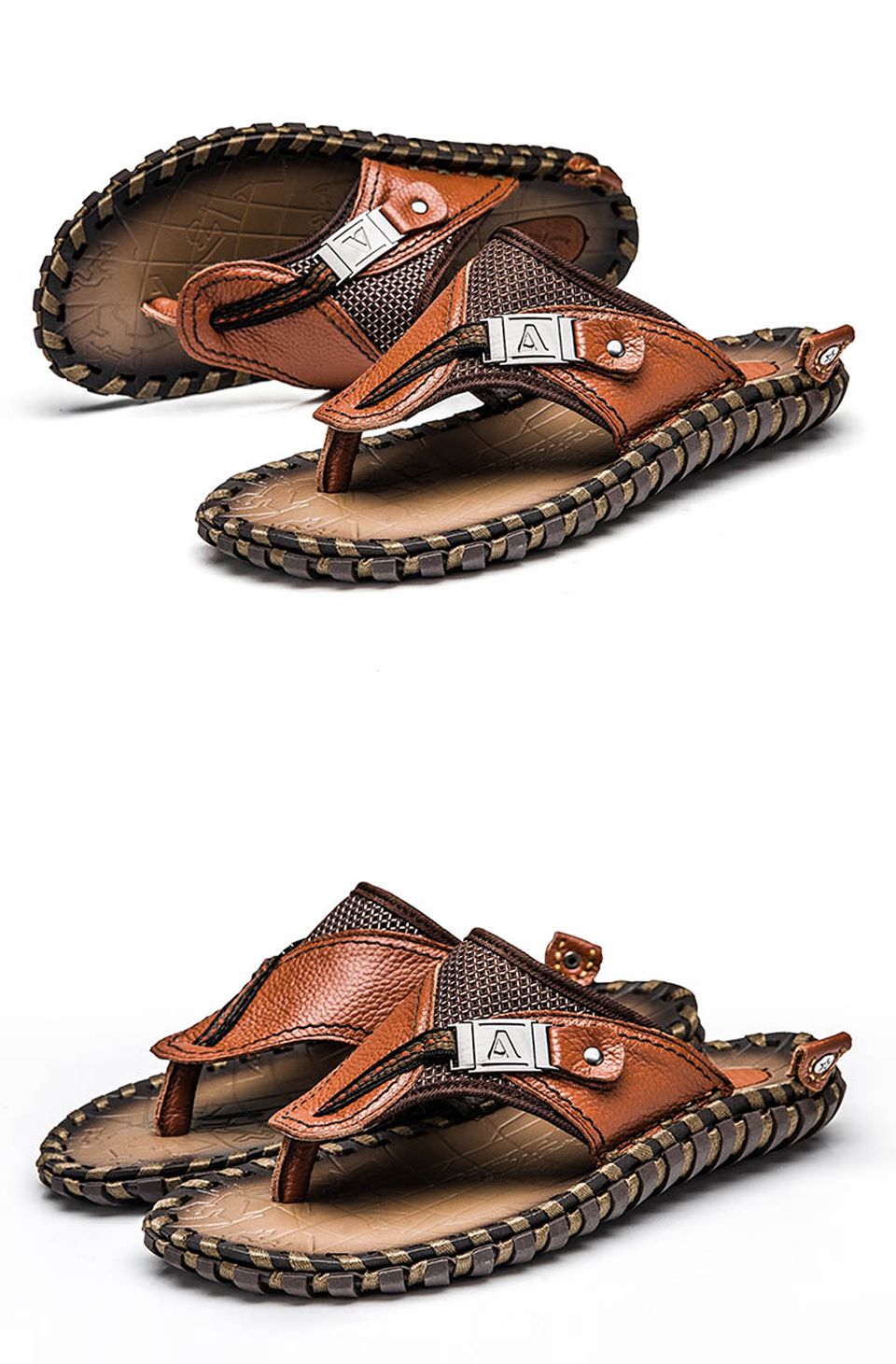 HTB1kVg8LQvoK1RjSZPfq6xPKFXae - VRYHEID Brand Men's Flip Flops Genuine Leather Luxury Slippers Beach Casual Sandals Summer for Men Fashion Shoes New Big Size 48