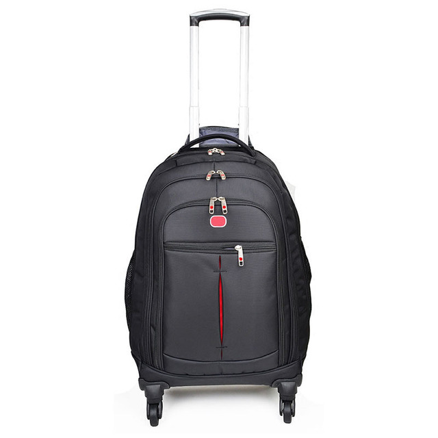 BeaSumore High-capacity Rolling Luggage Multi-functional shoulders Trolley Carry On Travel Bag Laptop Suitcase Wheels