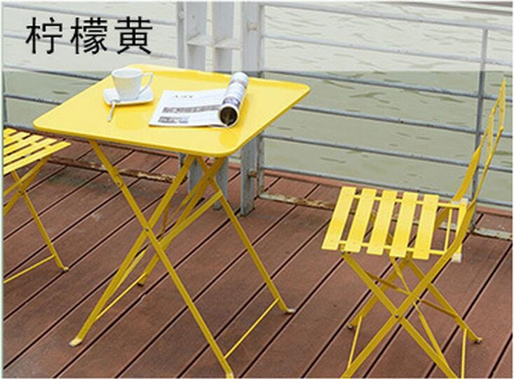 Square style Outdoor leisure Balcony tables and chairs Coffee table Folding Garden Chairs stadium chairs