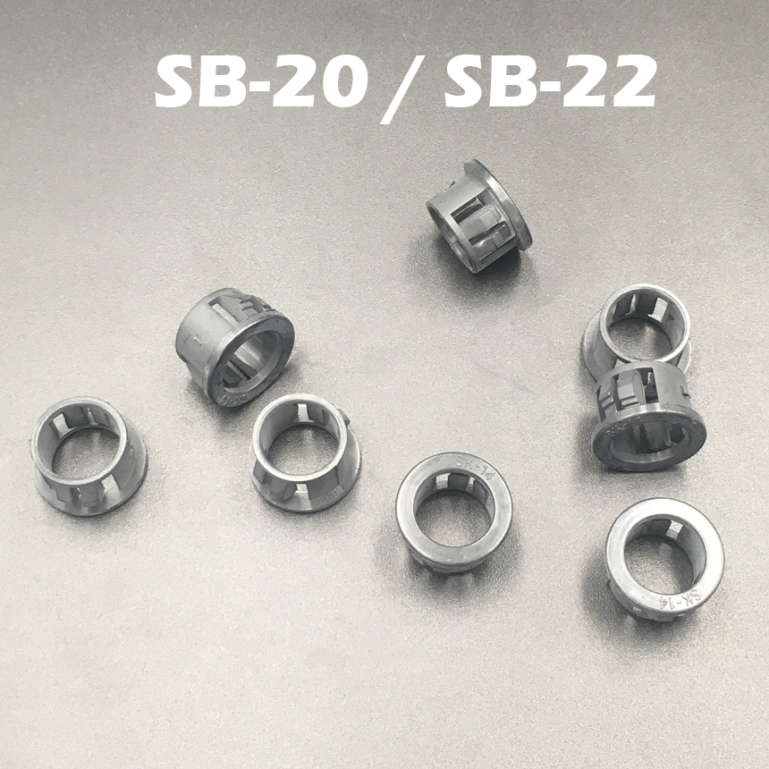 100pcs SB-20 SB-22 20mm 22mm Dia Panel Mount Hole Black Cable Hose Pipe Plastic Harness Protective Snap Bushing Grommet