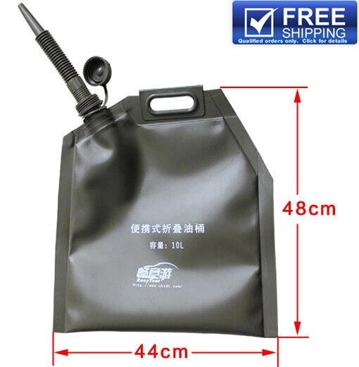 10l Folding Jerry Can Fuel Tanks Bag Gasoline Bucket