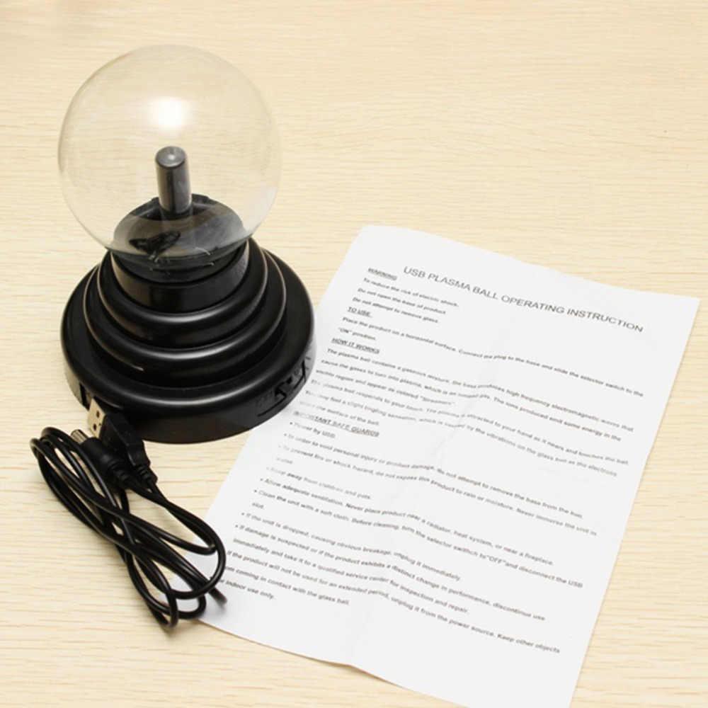 """3 """"USB плазменный шар Сфера свет магический кристалл лампа Настольный Глобус ноутбук оптовая продажа"""