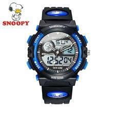 Snoopy Niños Reloj Reloj de Los Niños Chicos de Moda Cool Casual Relojes de pulsera de Cuarzo Deportes reloj de Cuero Resistente Al Agua