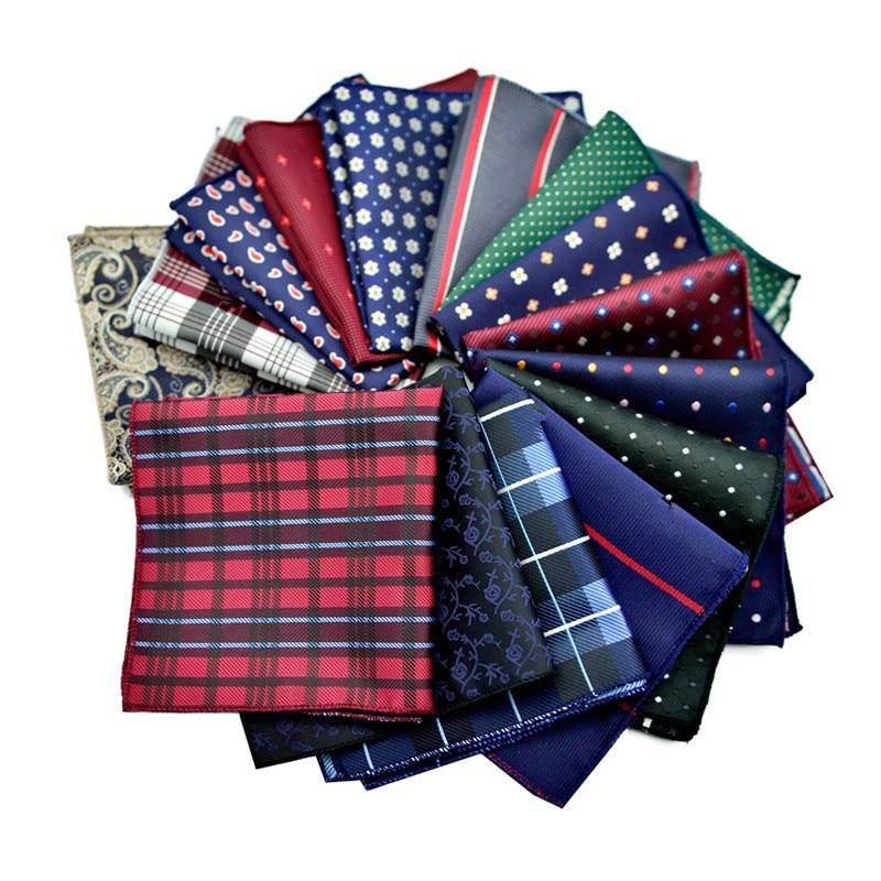 CityRaider Paisley Floral Navy Blue Silk Handkerchiefs For Men Cotton Pocket Square Stars Burgundy Red Wholesale VIP Link C036