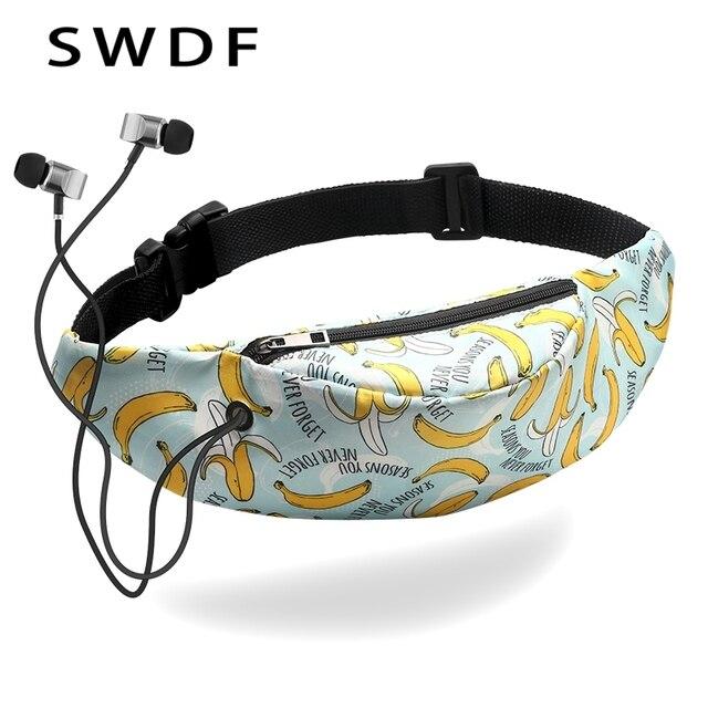 SWDF 2018 Fanny Pack for Women Men Waist Bag Colorful Unisex Waistbag Belt Bag Zipper Pouch Packs 110cm Belt Length Factory OEM