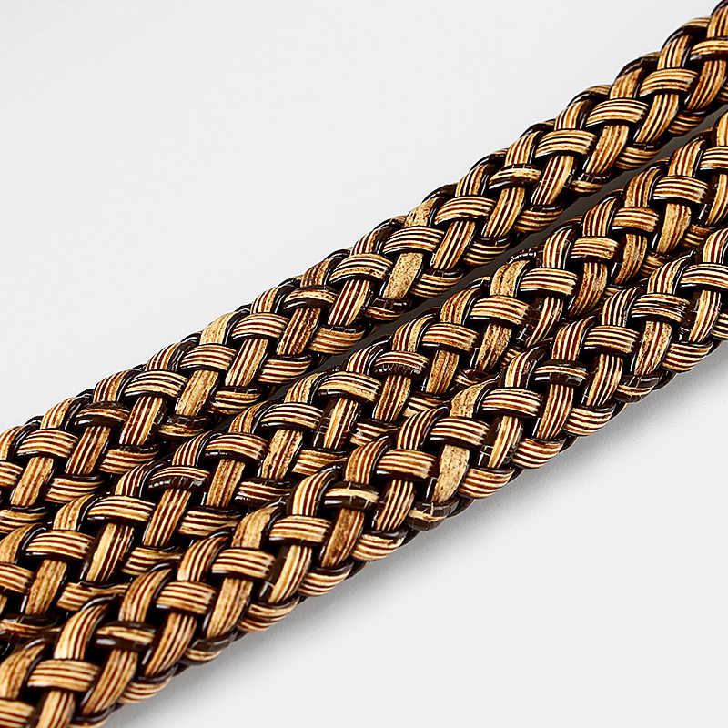 1meter Coffee color Braid Leather Flat Cord for 9*5mm Necklace Bracelet Making Rope For DIY Fashion Jewelry Accessories