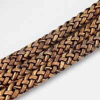 1 meter Kaffee farbe Braid Leder Flache Schnur für 9*5mm Halskette Armband, Der Seil Für DIY Mode schmuck Zubehör