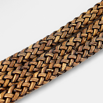 1meter Coffee color Braid Leather Flat Cord for 9*5mm Necklace Bracelet Making Rope For DIY Fashion Jewelry Accessories genuine leather braid rope chain bracelet for men