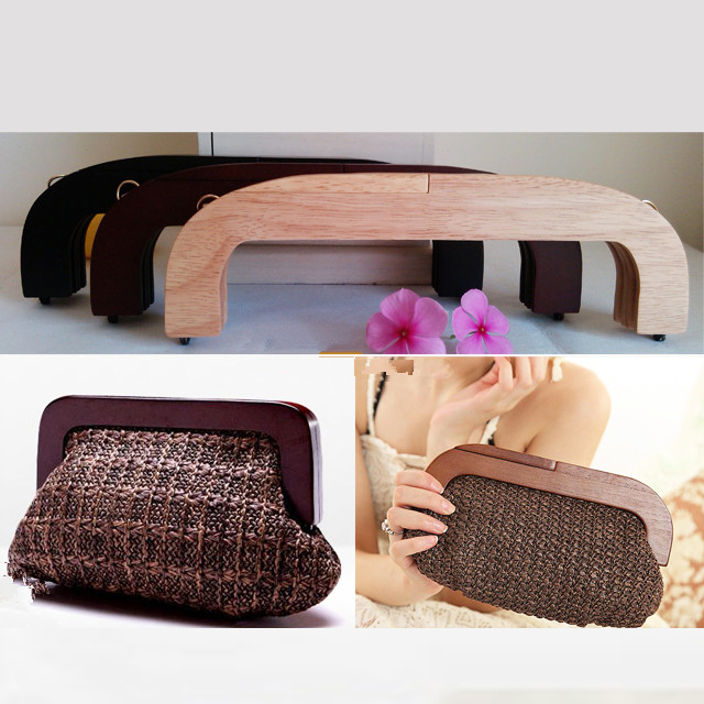 2015 Free Shipping Size 25cm wooden Bag Handle DIY Accessories Bag Hanger China Factory Supplier Wholesale