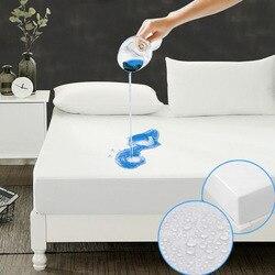 Colchão impermeável liso de 160x200 cm para a capa do colchão da mola da caixa esteira da cama bedbug molhando a prova e a folha cabida hipoalergênica