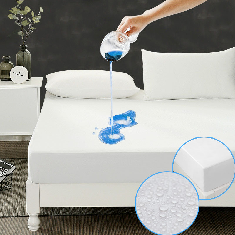 DFH ALL Size 180X200cm Cheapest Smooth Waterproof Mattress Protector Cover For Bed Wetting breathable Hypoallergenic matelas