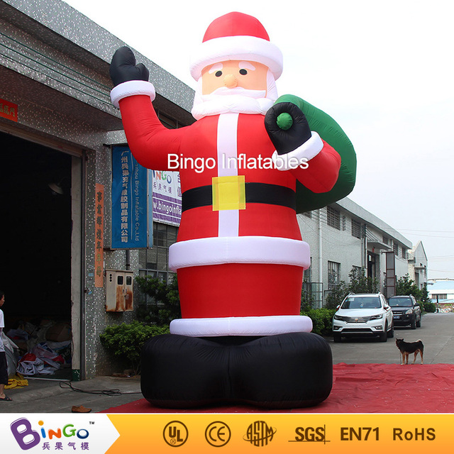 outdoor christmas decoration inflatable santa claus 20ft high6m high factory direct sale bg - Outdoor Christmas Decorations For Sale
