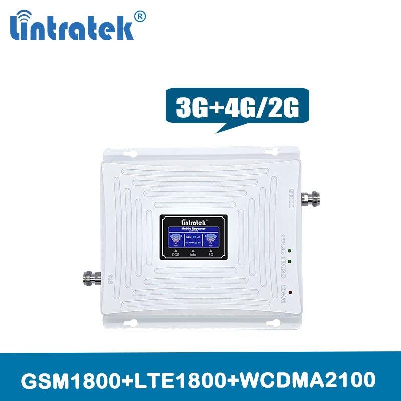 Amplificador de sinal 3g 4g reforço DUAL BAND Lte/Gsm HSDPA 1800 WCDMA 2100 mhz sinal de celular celular telefone repetidor com Display Lcd